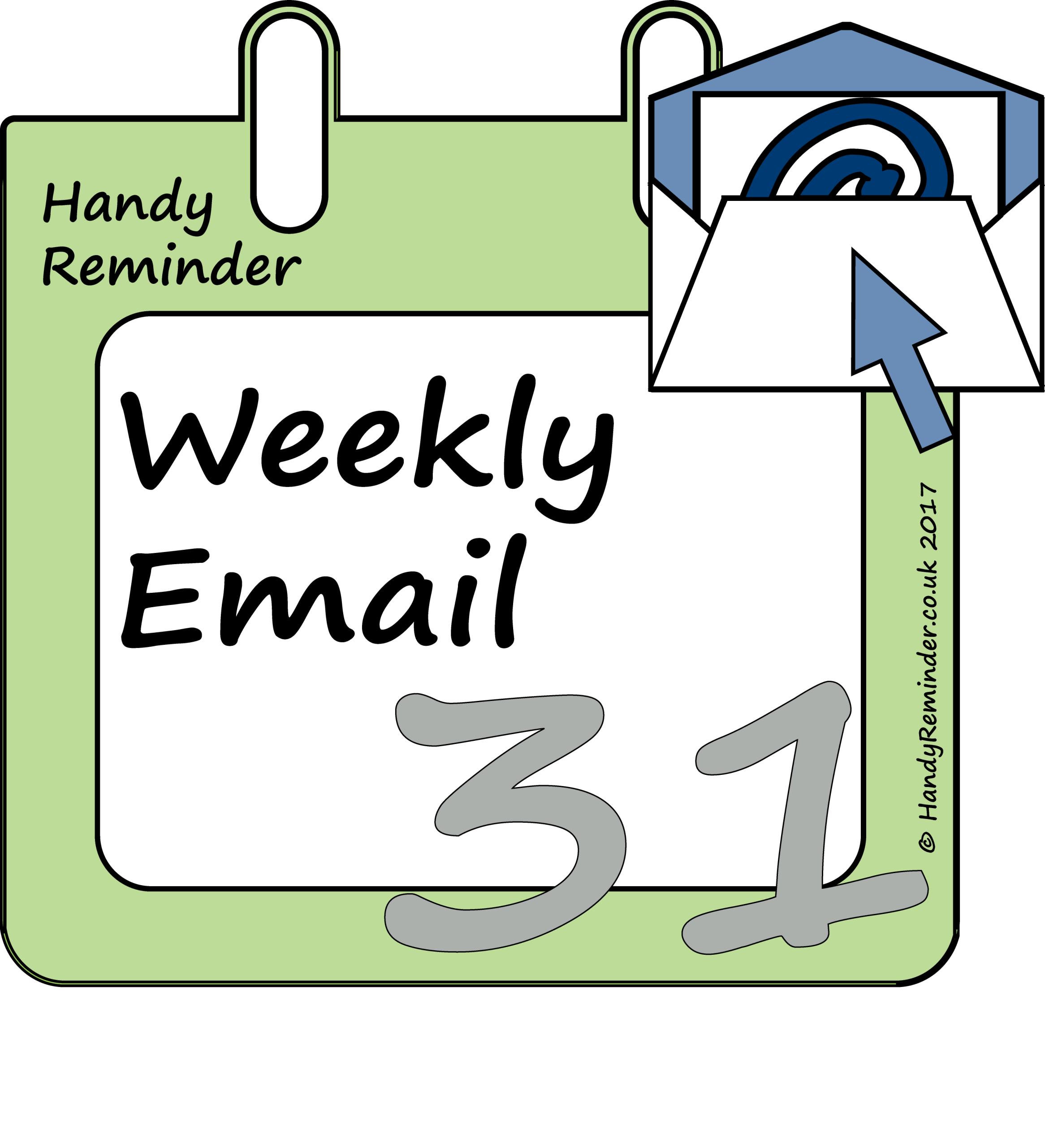 Weekly Reminder Calendar : Weekly reminder by email